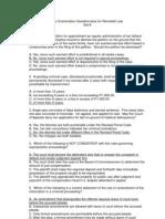 Remedial 2011 Bar Exam Questionnaire