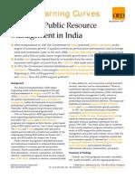 ADB and Public Resource Management in India
