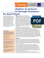 ADB's Contribution to Inclusive Development Through Assistance for Rural Roads