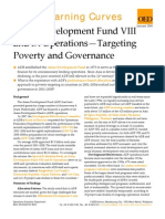 ADF VIII and IX Operations - Targeting Poverty and Governance