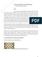 Geometri Transformasi Dalam Karya Seni Batik Indonesia