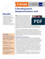 Gender and Development - Relevance, Responsiveness, And Results
