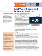Impact of Rural Water Supply and Sanitation in Punjab, Pakistan