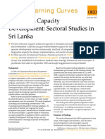 Lessons in Capacity Development- Sectoral Studies in Sri Lanka