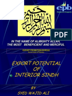 Export Potential of Interior Sindh Final[1]