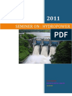 Seminer on Hydro Power