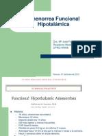Amenorrea funcional hipotalámica