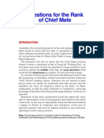 Questions for the Rank of Chief Officer