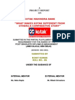 Kotak Mahindra Bank What Makes Kotak Different From Others- A Comparative Story Kotak