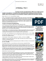 Determining the Cost of Welding - Part 2
