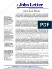 Jobs From Waste - The Jobs Letter
