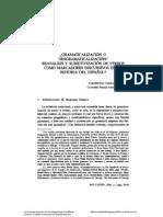 Company -gramaticalización o desgramaticalización