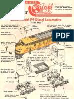 Globe EMD F7 Diesel Locomotive Kit