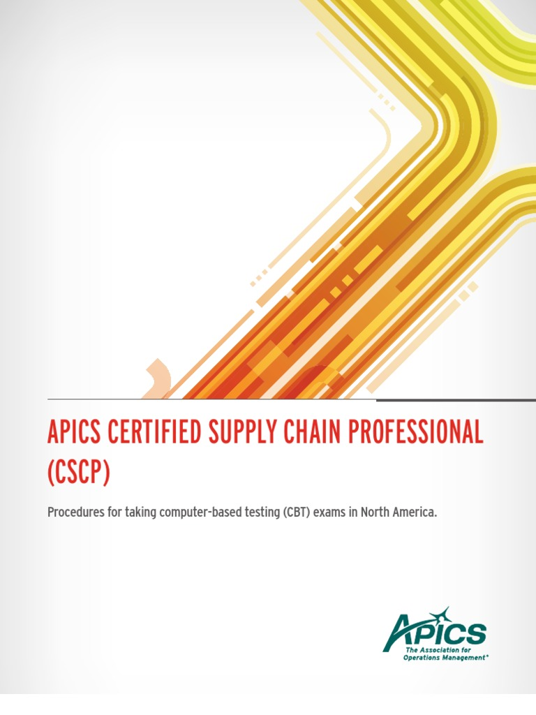 Apics Certified Supply Chain Professional Identity Document Test