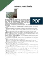 Proses Pembuatan Anyaman Bambu