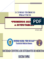 I Curso Teórico Práctico Primeros Auxilios - Inyectables