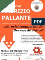 Locandina incontro con Maurizio Pallante su Decrescita Felice - Vico Equense 20 03 2012