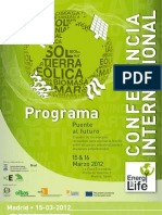Programa Confer en CIA Energy for Life 2012 ES