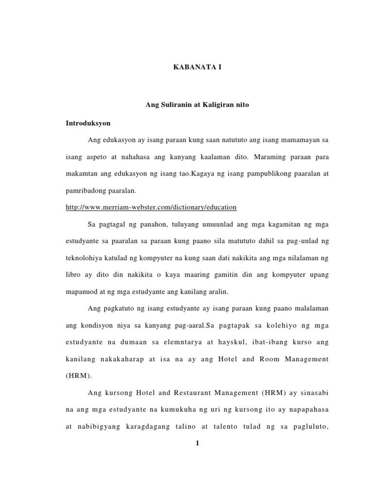 thesis tungkol sa laboratoryo