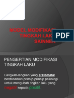 Model Modifikasi Tingkah Laku Skinner