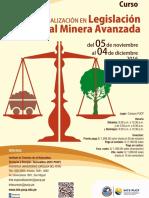 Curso LEGISLACIÓN AMBIENTAL MINERA AVANZADA - INTE PUCP - Noviembre & Diciembre 2017