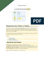 Diagrama de Tallo y Hojas