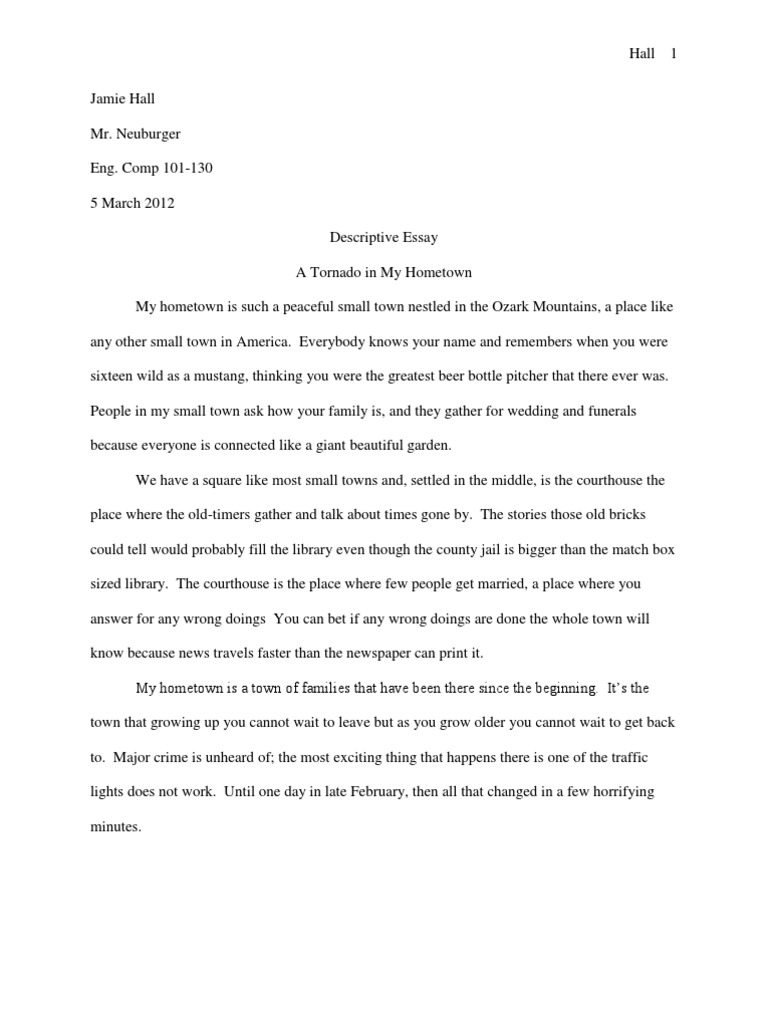descriptive essay on my hometown Search results for: describe my hometown essay writing click here for more information.