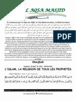 L'ISLAM, LA RELIGION DE TOUS LES PROPHETES