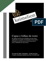 Capas e folhas de rosto de trabalhos revisados na  Keimelion