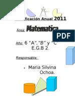 Planificación Anual 2011-6º