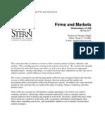 Firms & Markets Syllabus