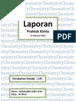Laporan Percobaan Kimia Perubahan Entalpi