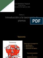Tema 1. Introduccion a La Taxonomia de Plantas