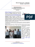 eXampleCG BALANCED SCORECARD Certification Training at Mumbai - Mar 2012 - Highlights
