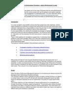 Managing Under-Performance Procedure