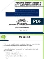 Environmental Resources Available for Youth in the Caribbean - Peter a. Murray