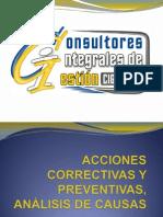 Acciones Correctivas y Preventivas Lcc