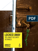 Amnesty International Documents Sri Lanka's Shameful Record on Detention Without Trial in New Report