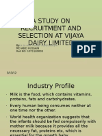 A Study on Recruitment and Selection at Vijaya