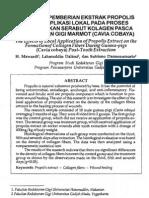 Pengaruh Pemberian Propolis Terhadap Penyembuhan Soket Post Ekstraksi Pada Marmut