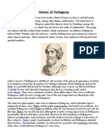 History of Pythagoras Project; Maths Form 3