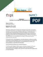 """Relatoría del Seminario """"La ética y el futuro del periodismo en Colombia"""""""