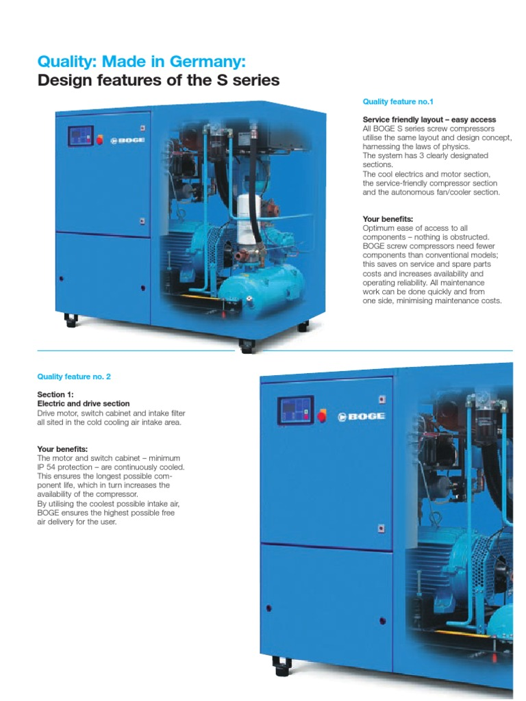 Design Features of the Boge Air Compressor S-Series | Gas