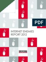 RSF Reporte Censura Internet 2012