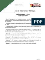 Angola Decreto-13-2007 Reg Geral Ed Urbanas