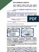 Manual Cartoes de Membros e Obreiros Personalizados