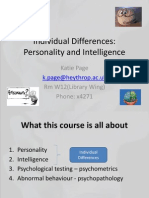 Lecture 1 Introduction to Individual Differences