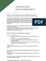 26 Mars 2011 Seminaire DGRST Alger