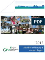 Oregon Opportunity Network 2012 Member Directory