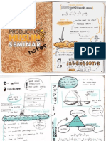 Aneesah's Productive Muslim Seminar Notes